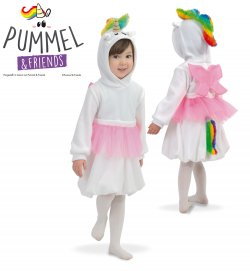 "Kinderkostüm Set ""Pummeleinhorn"" Kleid mit Kapuze Tüllrock & Flügeln und abnehmbarem Schweif, Pummel & Friends"