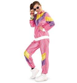 Jogginganzug Retro 80er Jahre Trainingsanzug Assi Proll knallig schrill pink Bad Taste