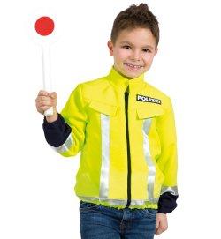 Kinder Kostüm Polizei Jacke Neon Gelb Warnschutzjacke Polizist Alltagsheld kleiner Held Kostüm für Kinder versch. Größen Verkleidung