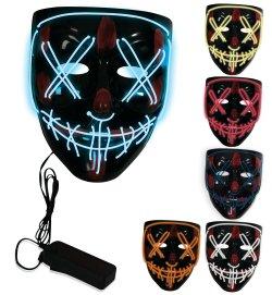 LED-Maske Halloween Cosplay Requisite Leucht-Halbmaske