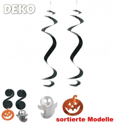 Halloween Deko 3er-Set, sortiert, Länge ca. 60 cm, Halloween, Party, Mottoparty, Deko