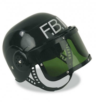 FBI-Helm, klein, Karneval, Mottoparty, Fasching