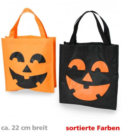 Halloween-Tasche, sortierte Farben, ca. 22 x 24 cm, Halloween, Party, Mottoparty, Accessoire