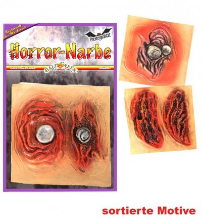 Halloween Horrornarbe, sortierte Motive, Halloween, Mottoparty, Karneval
