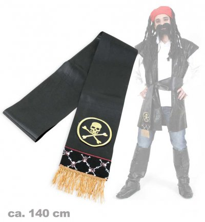 Piratenschärpe, Länge: ca 190cm, Pirat, Piratenparty, Halloween, Karneval, Mottoparty