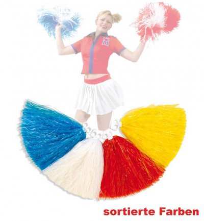 Cheerleader Pompon, sortierte Farben, Karneval, Mottoparty, Football, Pompom