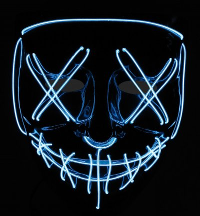 LED-Maske Halloween Cosplay Requisite Leucht-Halbmaske