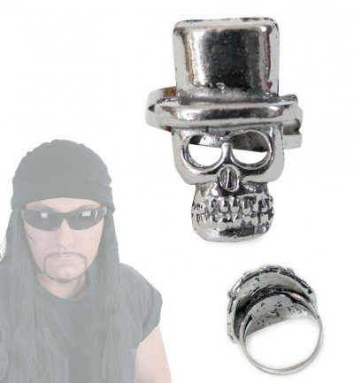 Rocker-Ring, sortierte Modelle, Halloween, Karneval, Mottoparty, Schmuck