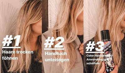 Hair-Color-Spray bunte Farben Haarschmuck Haar-Spray farbiges Spray