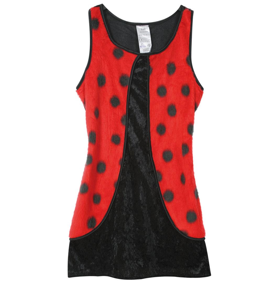 karnevalsteufel kinderkostüm kleid käfer schwarz/rot mit