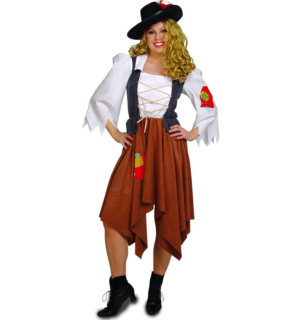 Damenkostum Rauberbraut Raubertochter Einteiliges Kleid Fur Frauen