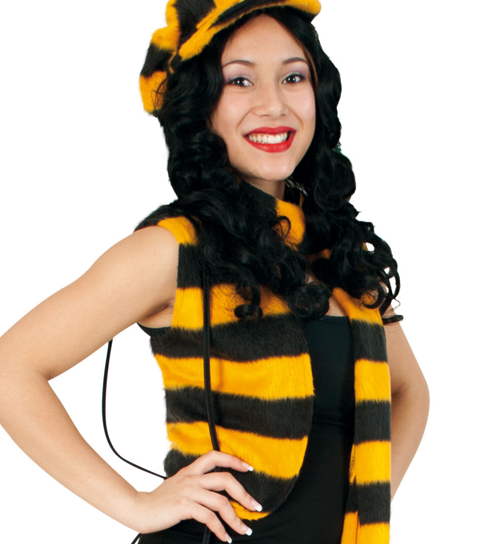 Kostum Bienen Weste 1 Tlg Mit Plusch Karnevalsteufel De