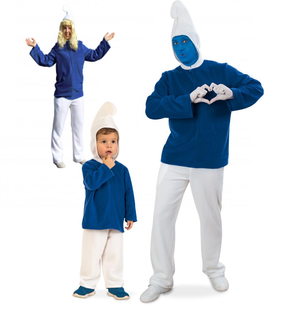 Blauer Zwerg 2 Tlg Mit Kapuze Plusch Fur Kinder Und Erwachsene