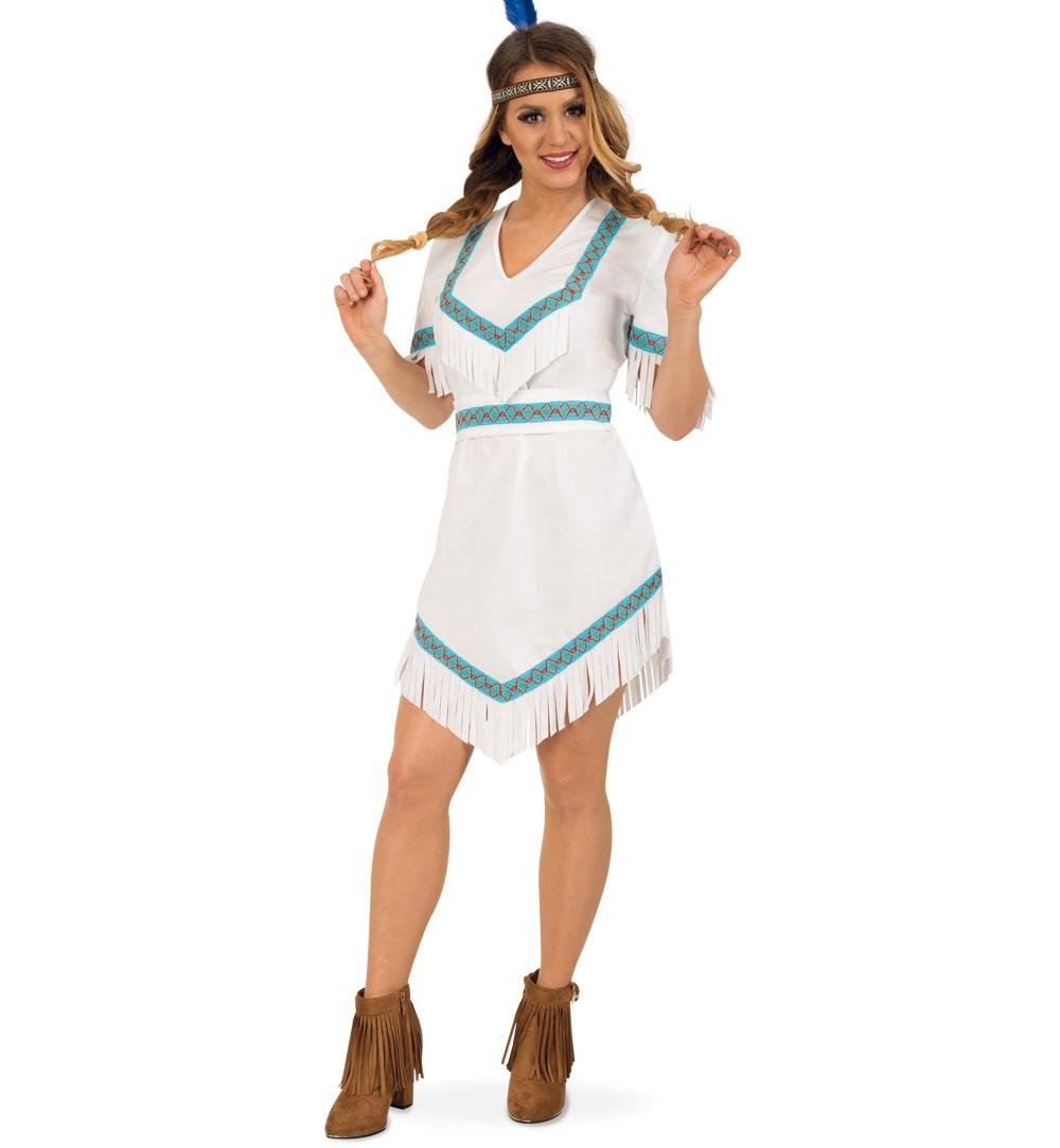 Indianer Braut Kleid Indianer Weiss Blau Elegant Und Sexy