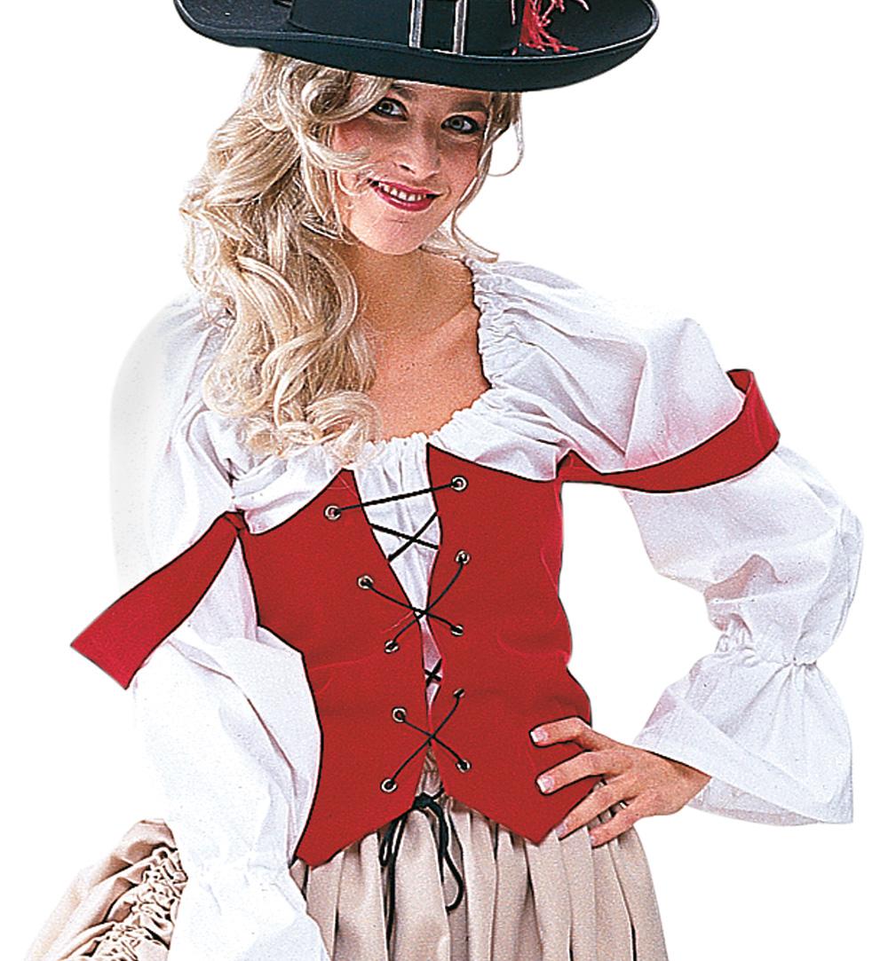 Damenkostum Piratenbraut Rock Mit Weste Karneval Fasching