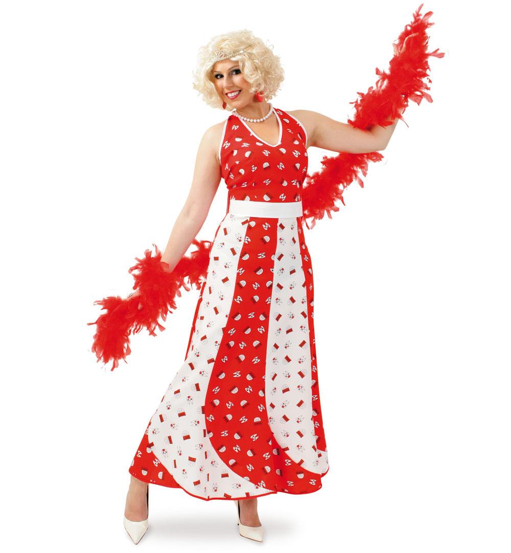 damenkostüm gala köln kölle kölsch karneval kleid rot weiß