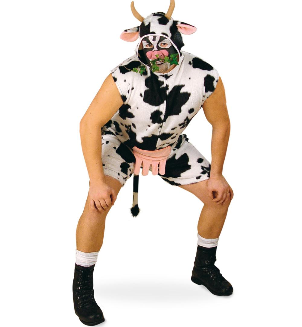 Herren Damenkostum Kuh Overall Fasching Karneval Mottoparty