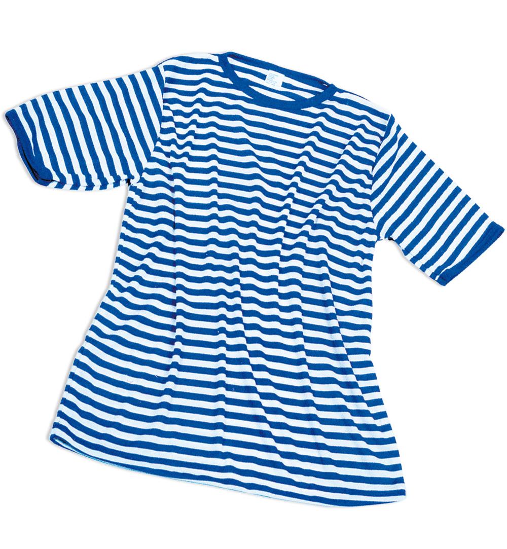 Kurzarm-Ringelshirt blau-weiß
