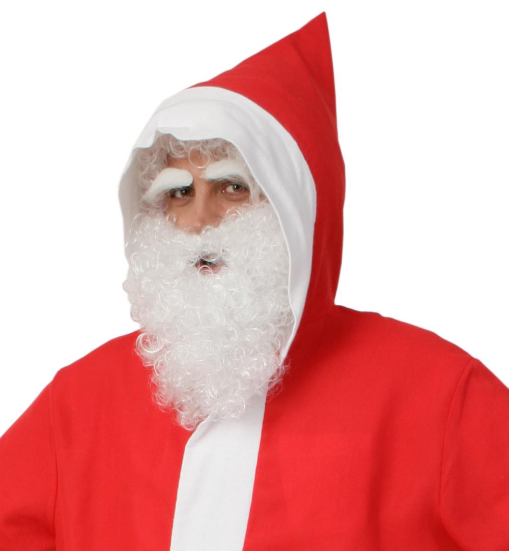 Perücke /& Bart Set weiß Weihnachtsmann Santa Claus Nikolaus Knecht Ruprecht