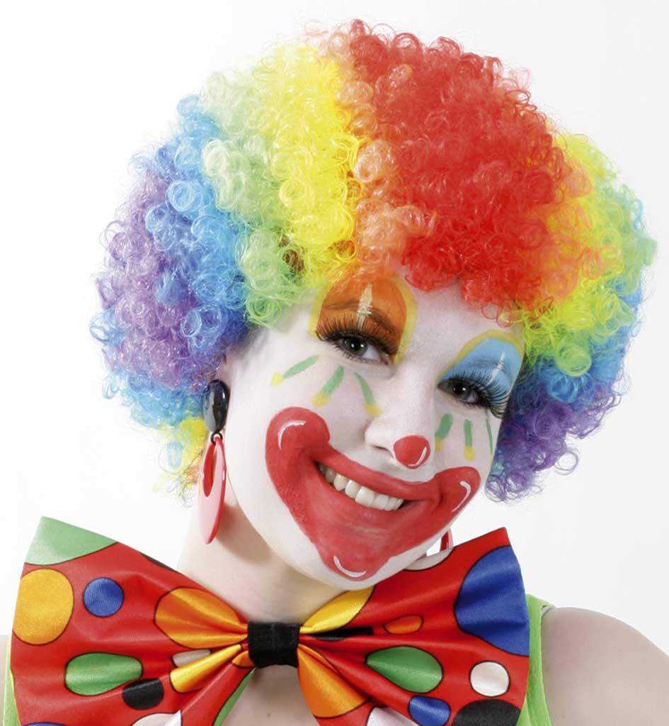 Per cke rainbow bunt clown fasching mottoparty kindergeburtstag karneval - Clown schminken bilder ...