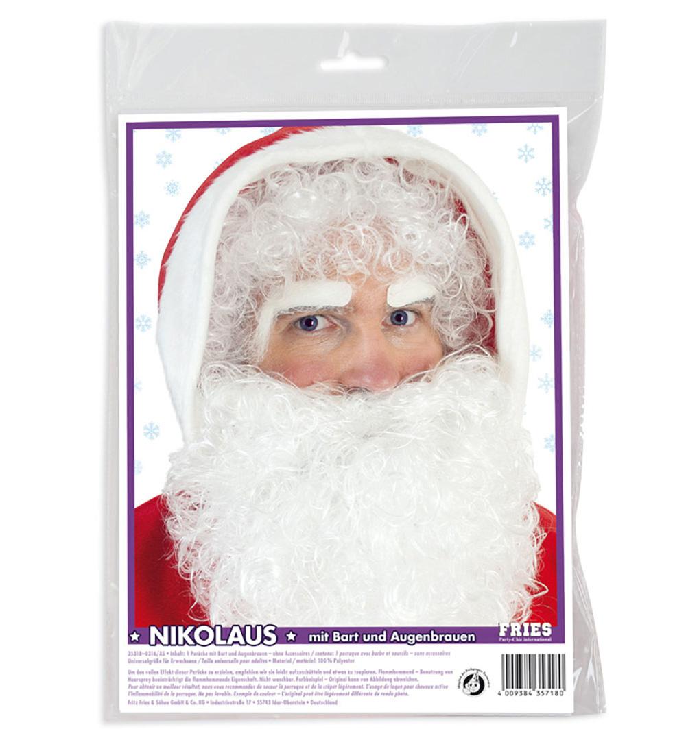 Augenbrauen weiß für Nikolaus