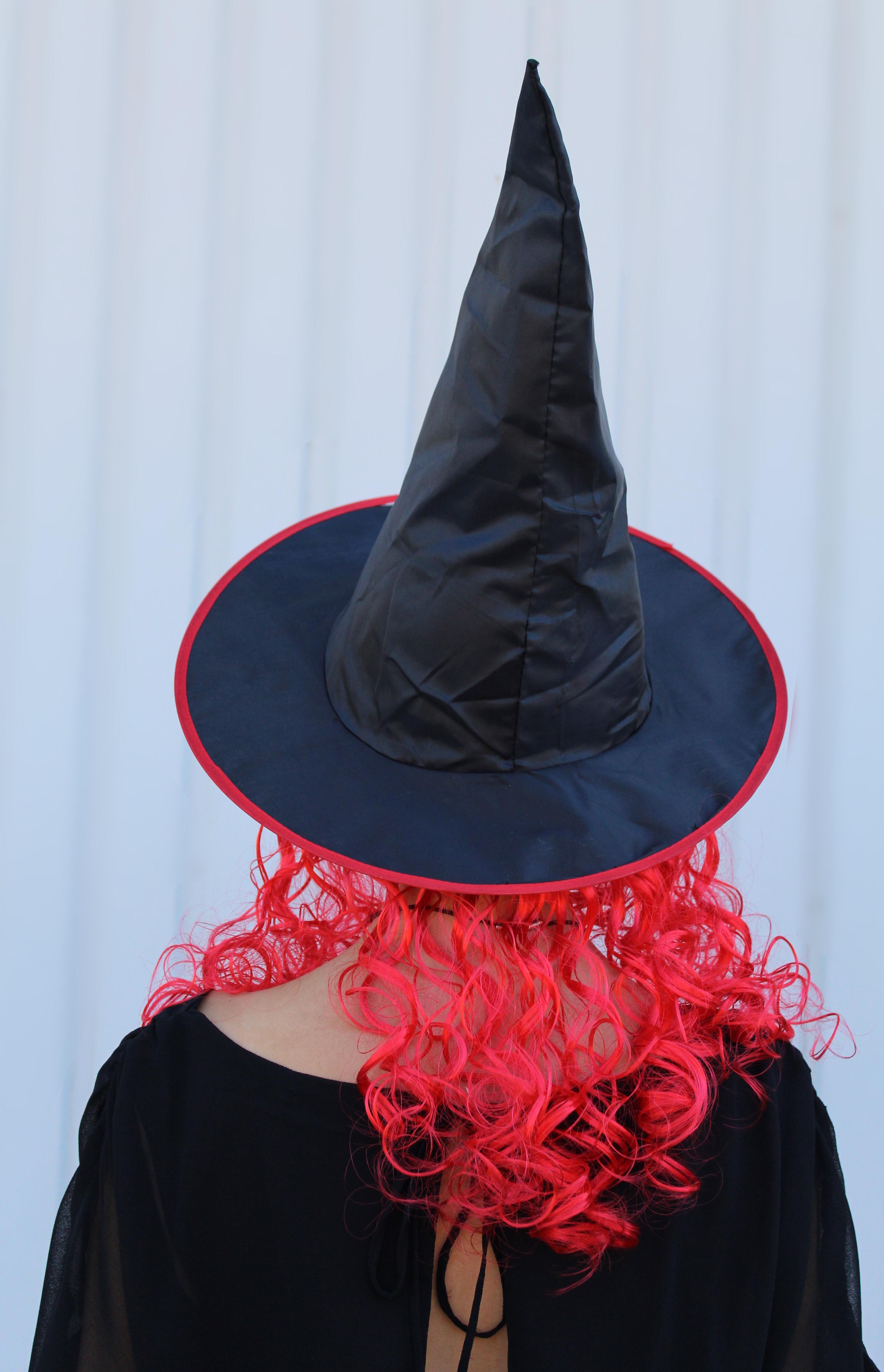 Hexenhut Mit Haar Sortierte Farben Hut Mit Haaren Halloween