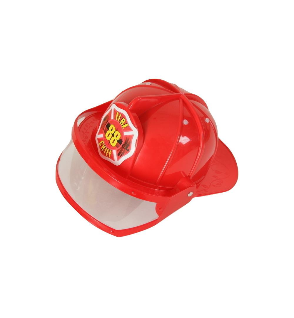 Helm Feuerwehr mit Visier Kunststoff Feuerwehrhelm rot