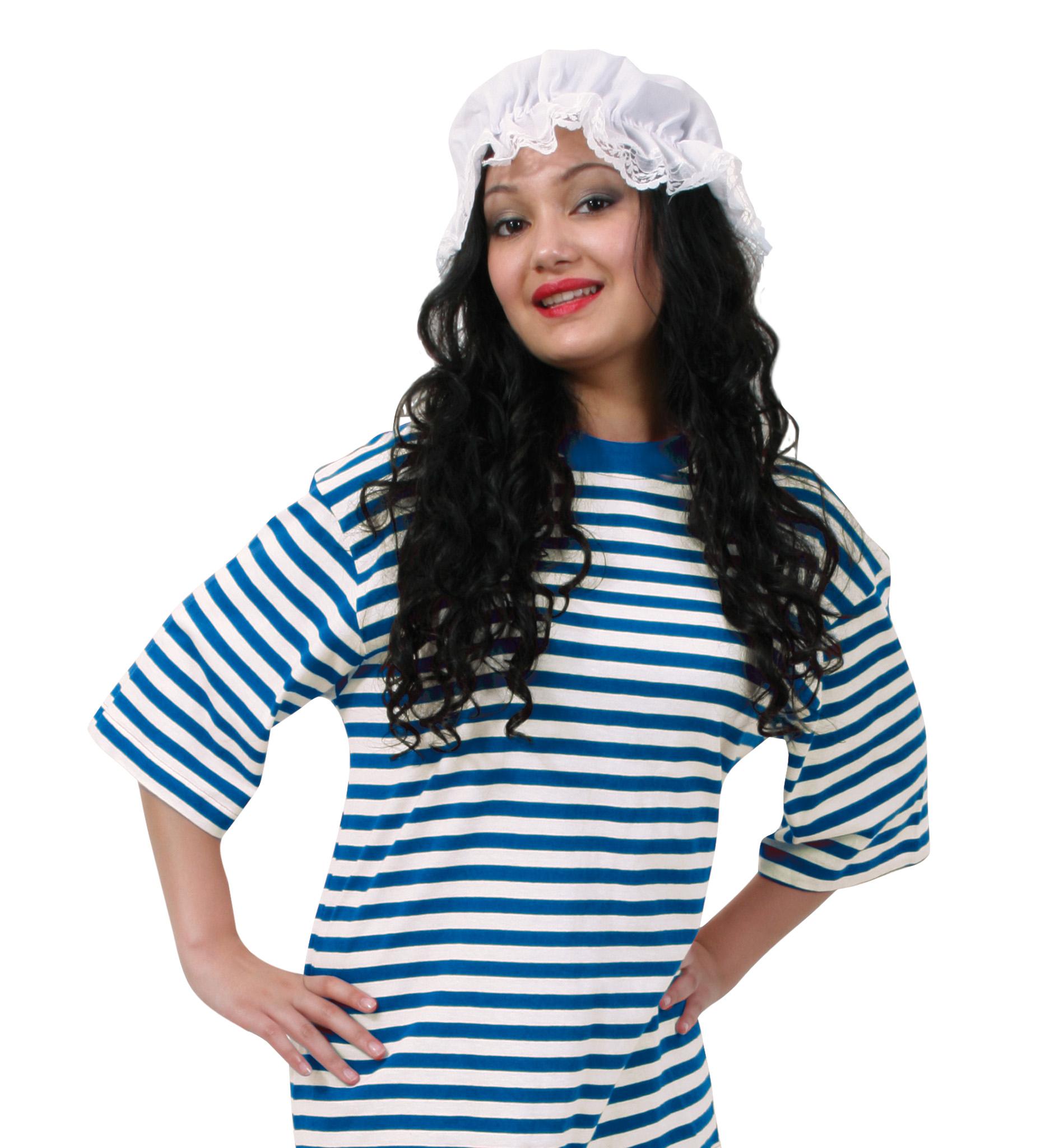 0efb5a9bae ... blau/weiß, Schlafwandler, Clown. Kostüm - Set Schlafmütze, 2-TLG.  Ringel-Shirt Kurzarm (Baumwolle)