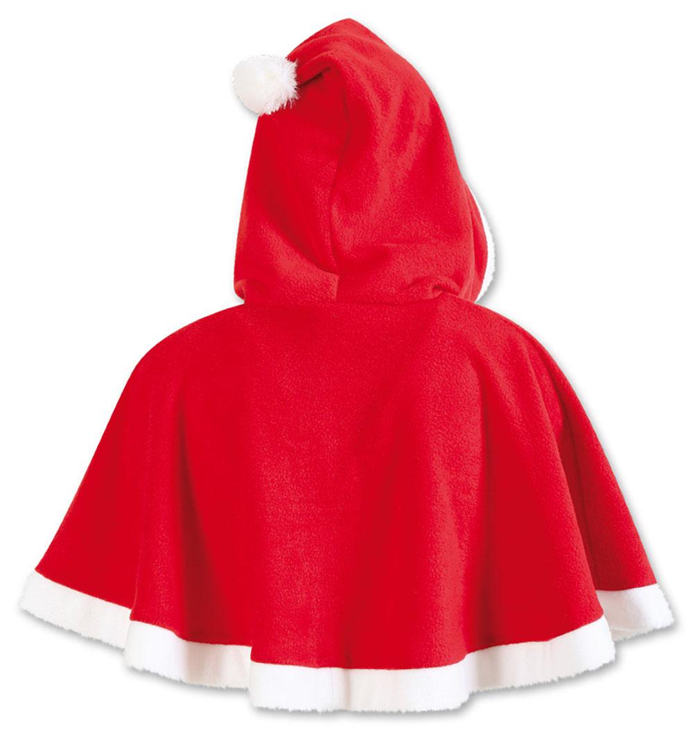 nikolaus gugel in rot wei cape mit kapuze und bommel weihnachtsmann umhang kurz berwurf. Black Bedroom Furniture Sets. Home Design Ideas