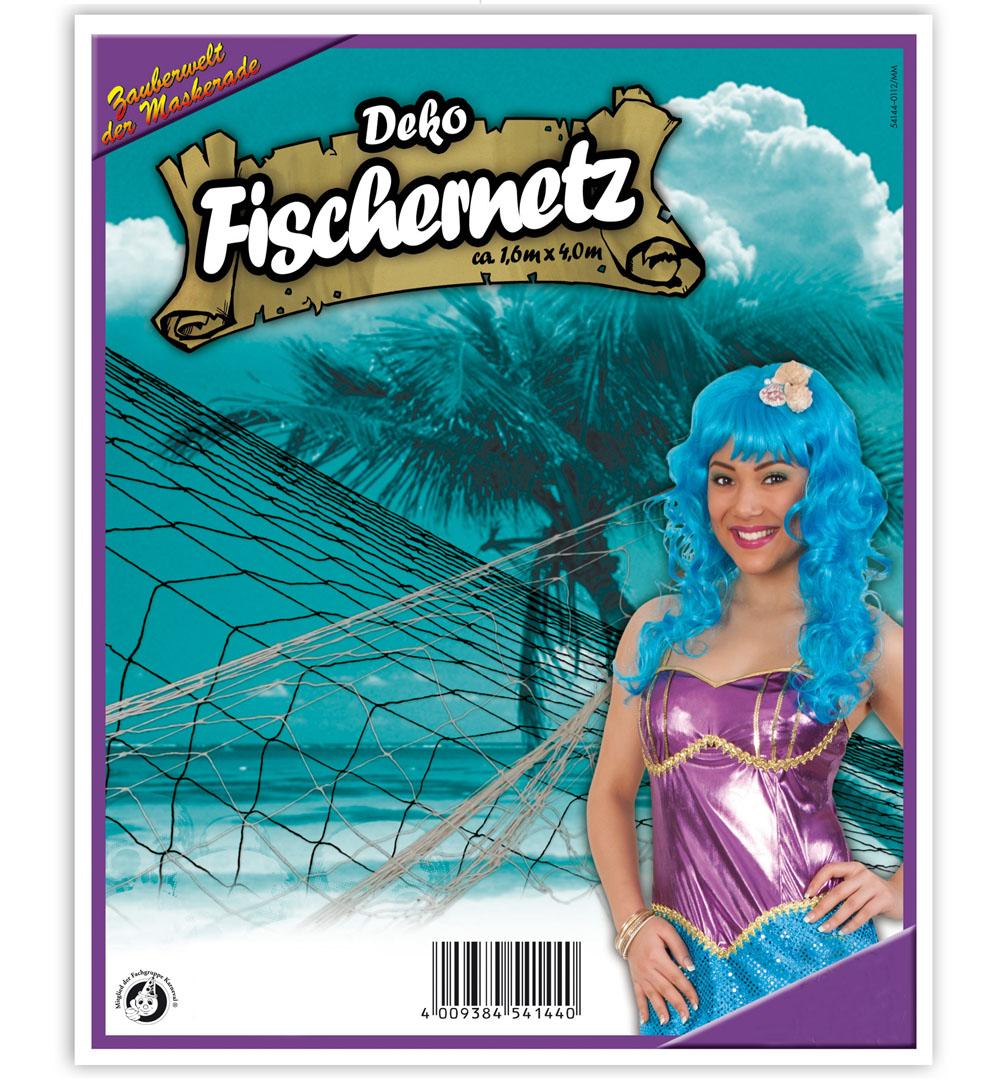 Deko Fischernetz Sortierte Farben Karneval Halloween Mottoparty