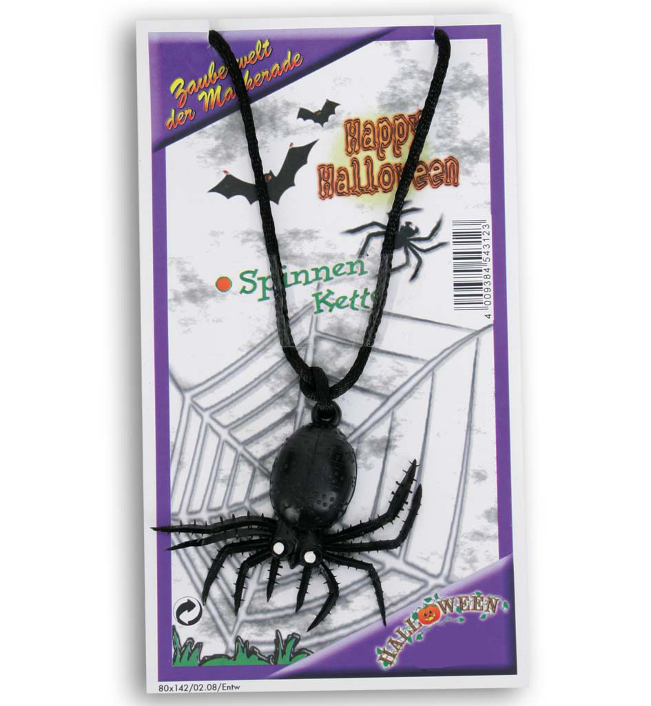 Halloween spinnenkette halloween party karneval for Mottoparty deko
