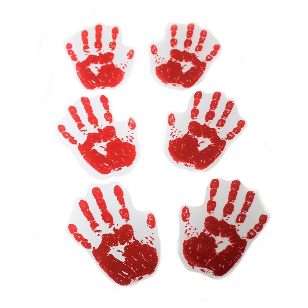 Hand Und Fußabdrücke Deko Blutige Abdrücke Halloween