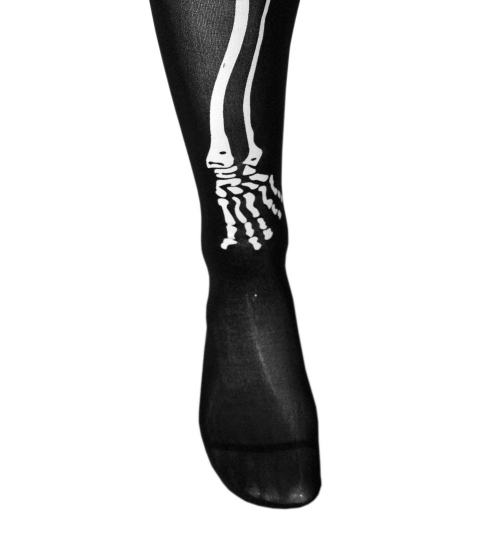 overknees skelett in schwarz mit wei en knochen kniestr mpfe in einheitsgr e f r erwachsene. Black Bedroom Furniture Sets. Home Design Ideas