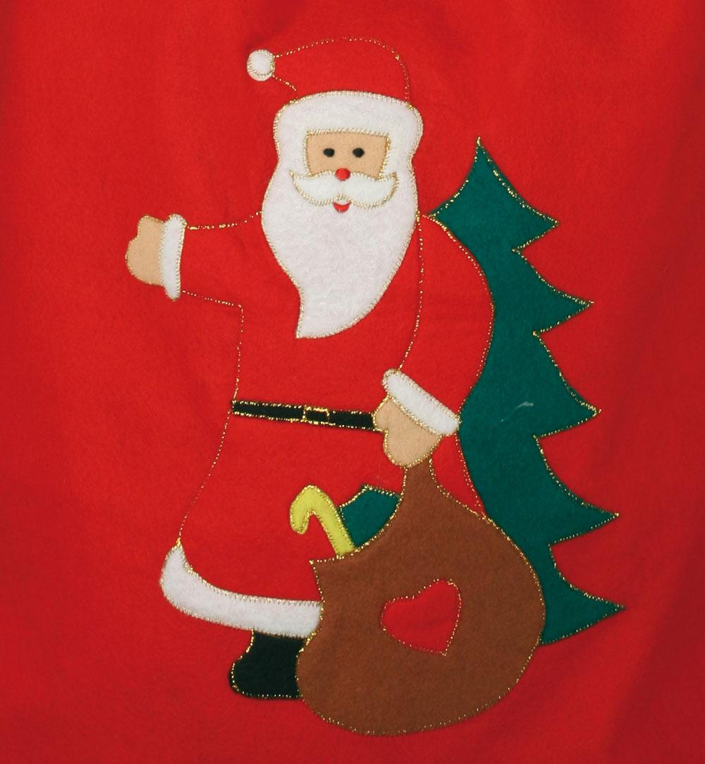 nikolaussack aus filz mit weihnachtsmannmotiv geschenke