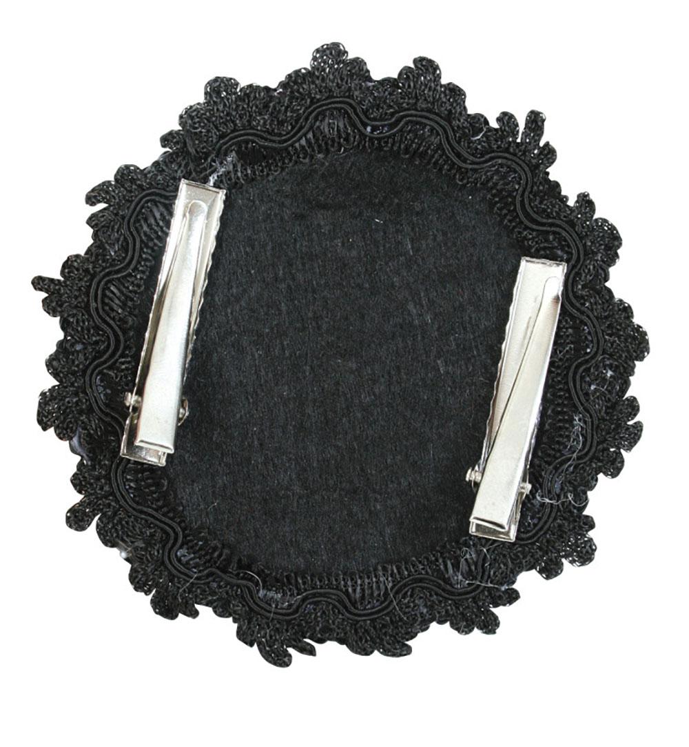 krone dark angel mit haarclip in rot schwarz f r erwachsene gothic kr nchen halloween accessoire. Black Bedroom Furniture Sets. Home Design Ideas