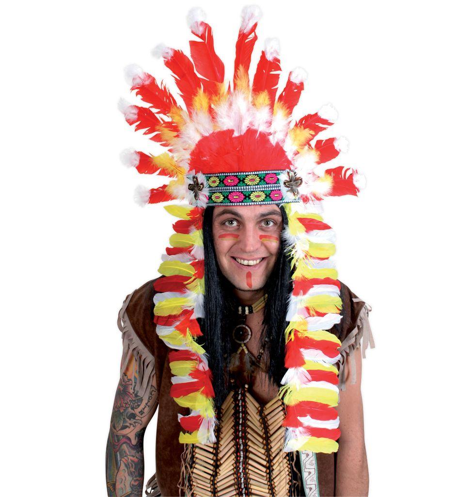 indianer kopfschmuck sortierte modelle indianer karneval accessoire. Black Bedroom Furniture Sets. Home Design Ideas