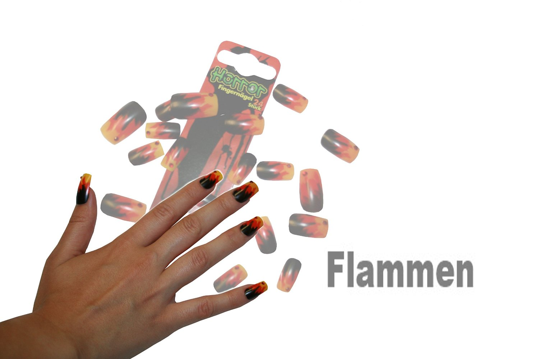 Großartig Fingernägel Motive Beste Wahl Horror Fingernägel Kunstnägel Nagel Make-up Accessoire Verschiedene
