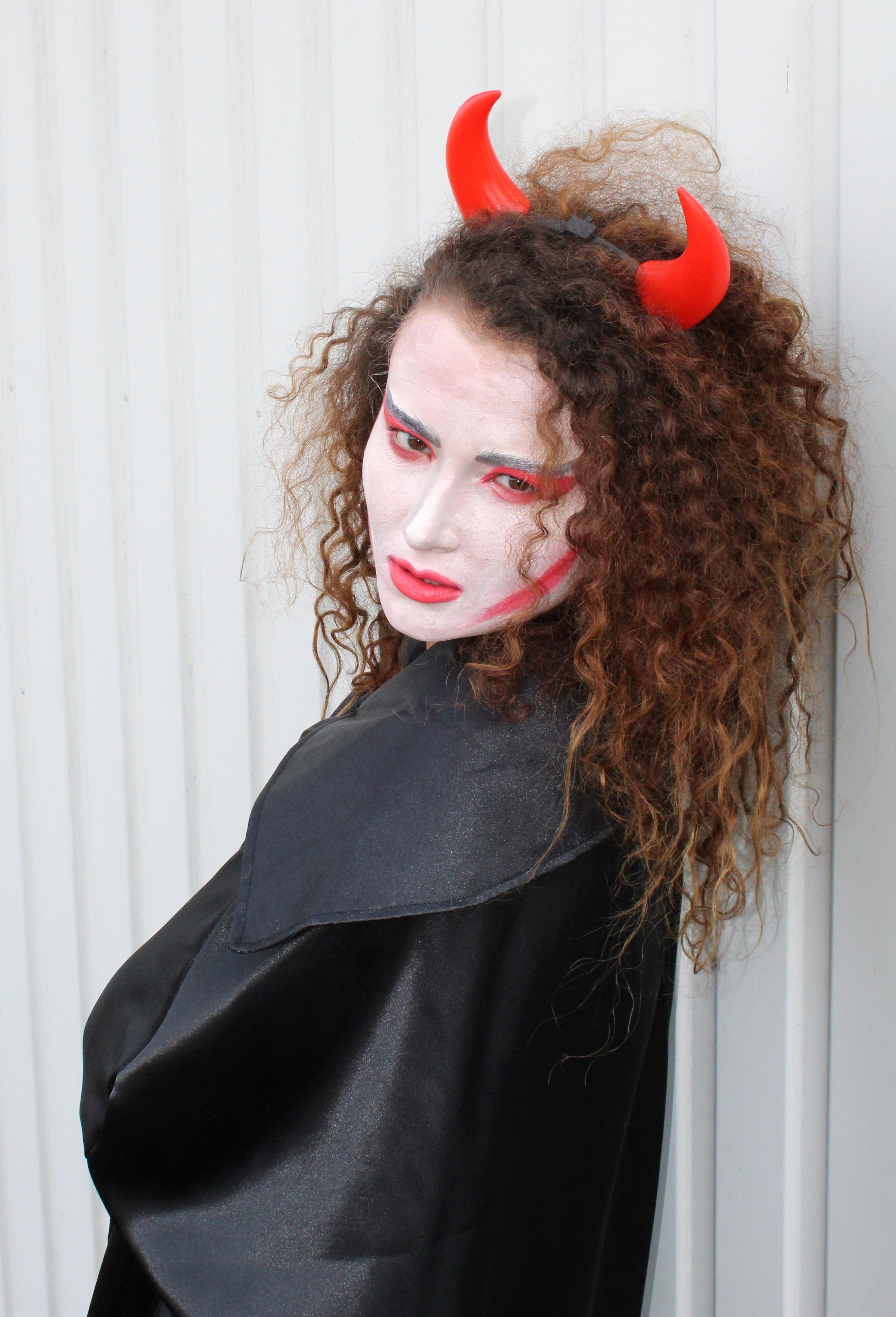 Teufels Domino Karneval Fasching Maske Satan Teufel Helloween