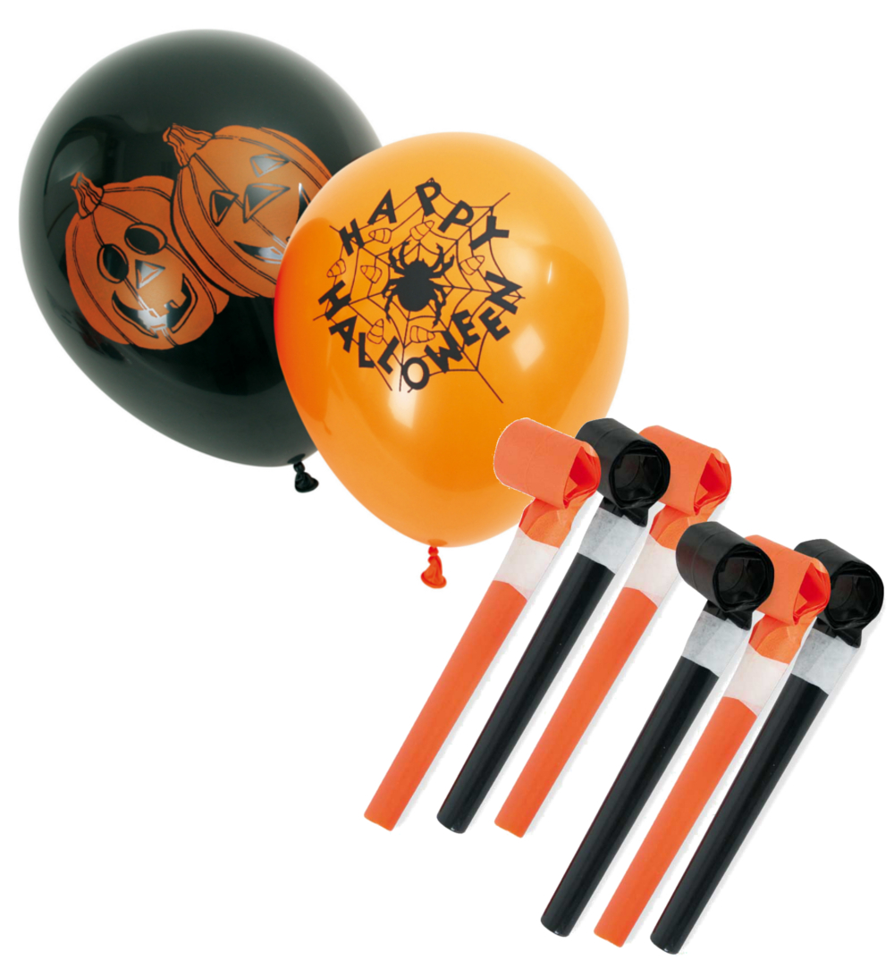 Halloween Deko Set 10 Teilig Dekoration In Schwarz Orange Karnevalsteufel De