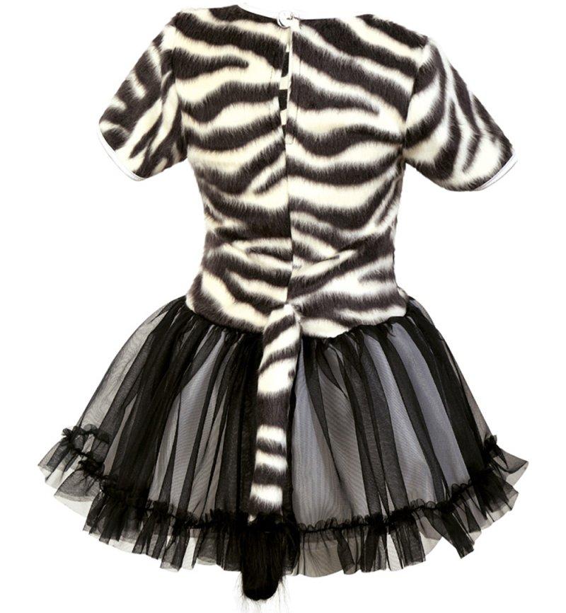 online retailer 3b052 e2862 KarnevalsTeufel Kleines Zebra Kleid schwarz weiß gestreift ...