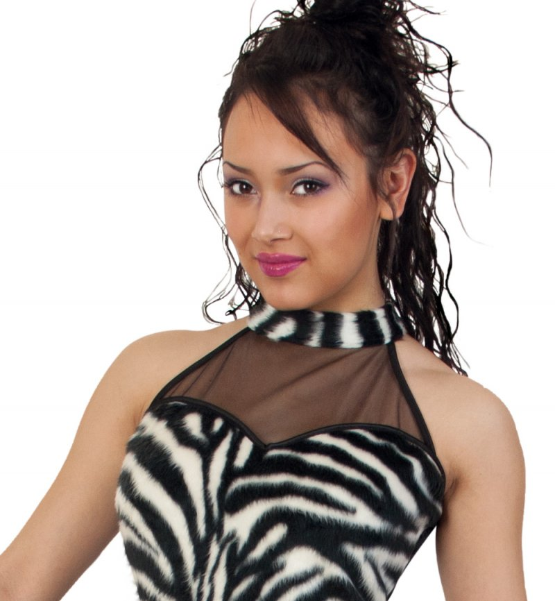 Damenkleid Pretty Zebra Karneval Fasching Mottoparty
