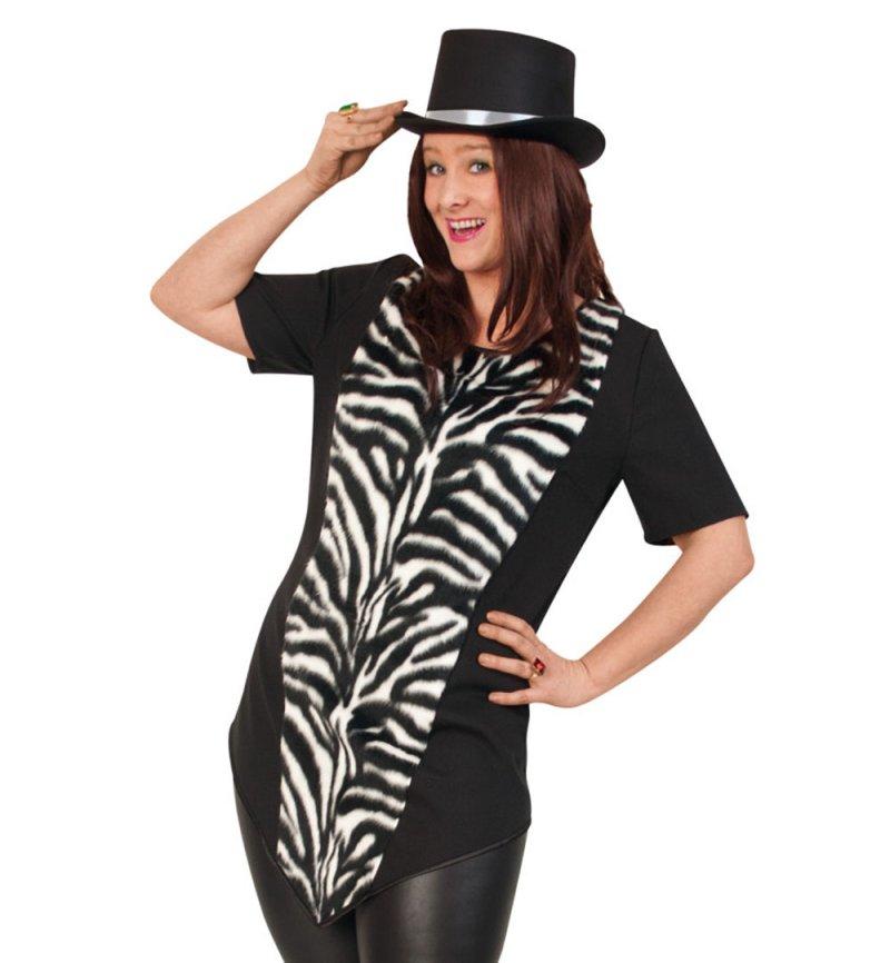 Damenkostum Longshirt Zebra Starke Outfits Ideal Fur