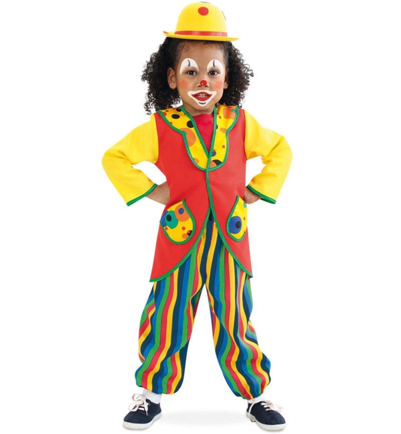 anzug clowni buntes clown kost m f r kinder 2 teilig bestehend aus oberteil und hose. Black Bedroom Furniture Sets. Home Design Ideas