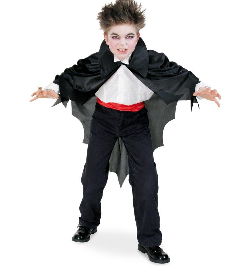 Kinderkostum Fledermaus Cape In Schwarz Mit Kragen Umhang Vampir