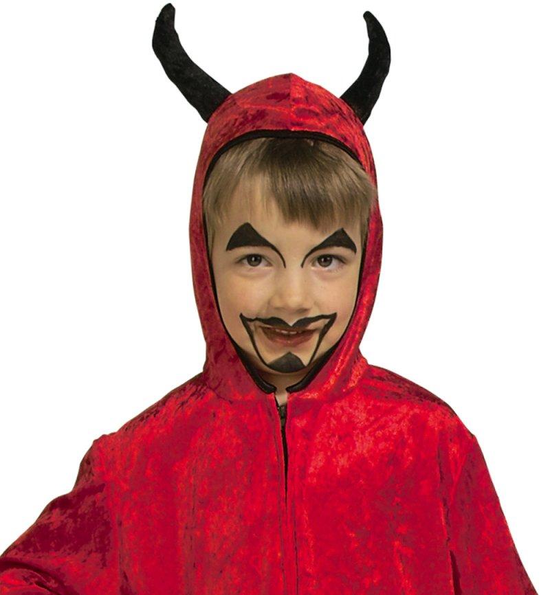 Kinderkostum Teufel Overall Mit Kapuze In Rot Karnevalsteufel De