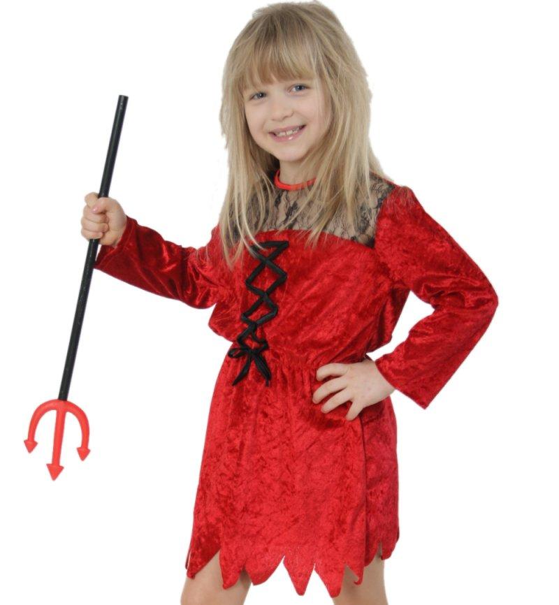 Kinderkostum Satansbraten Kleid In Rot Teufel Karnevalsteufel De