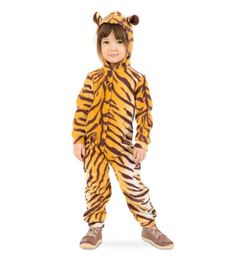 USA billig verkaufen Repliken echte Qualität Tiger-Kostüm für Kinder mit Kapuze Overall Fasching Tier ...