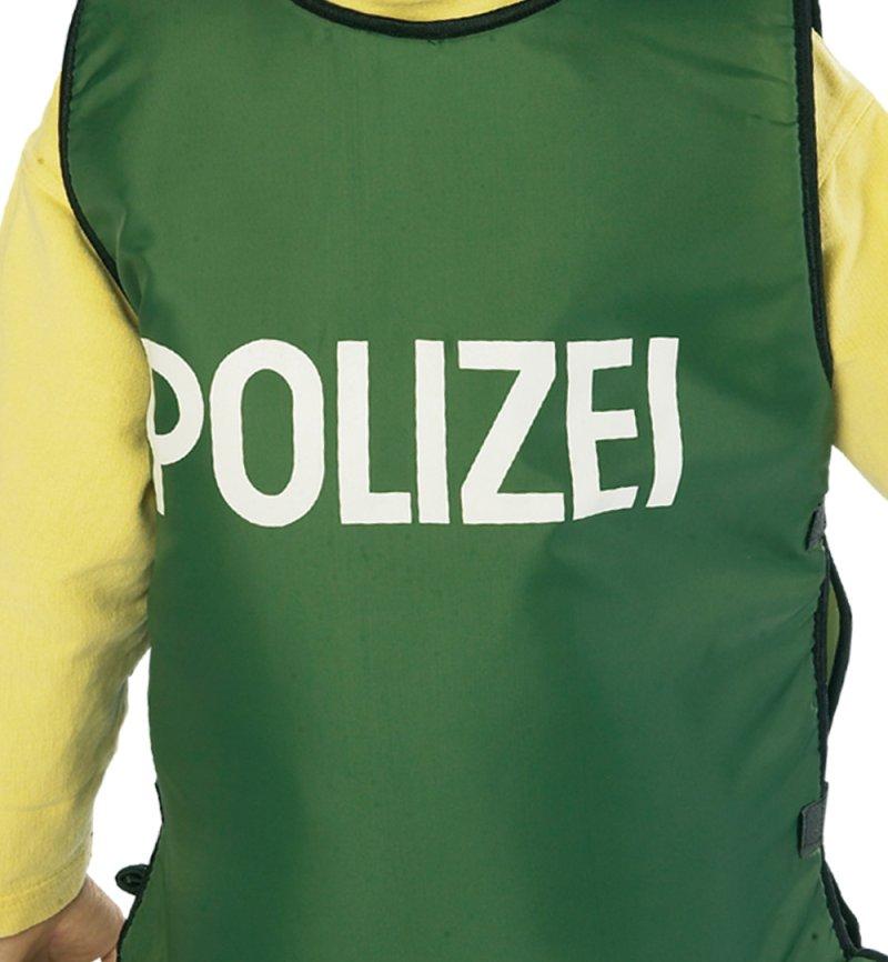 kostüm  set polizist für kinder  4tlg polizeiweste