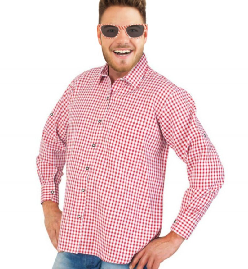 Herrenkostüm Set Andreas 3 teilig Hemd mit Sonnenbrille und
