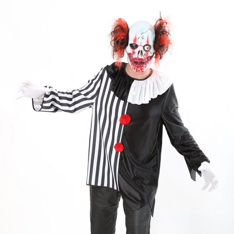 maske horrorclown f r erwachsene latexmaske mit haaren universalgr e clownsmaske. Black Bedroom Furniture Sets. Home Design Ideas